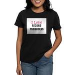 I Love RECORD PRODUCERS Women's Dark T-Shirt