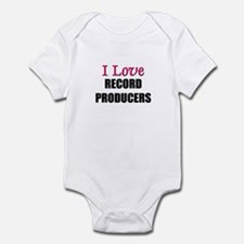 I Love RECORD PRODUCERS Infant Bodysuit