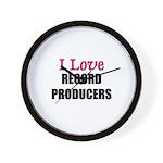 I Love RECORD PRODUCERS Wall Clock