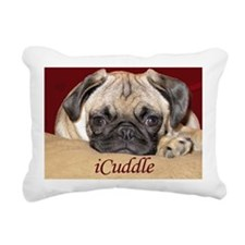Adorable iCuddle Pug Pup Rectangular Canvas Pillow