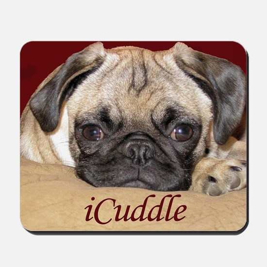 Adorable iCuddle Pug Puppy Mousepad