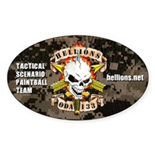 HELLIONS Oval Decal