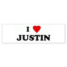 I Love JUSTIN Bumper Bumper Sticker