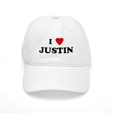 I Love JUSTIN Baseball Cap