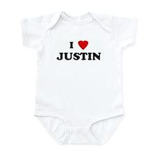 I Love JUSTIN Onesie