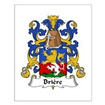 Briere Family Crest Small Poster