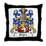 Briere Family Crest Throw Pillow