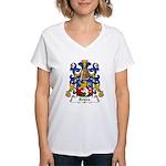 Briere Family Crest Women's V-Neck T-Shirt