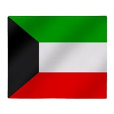 Flag of Kuwait Throw Blanket