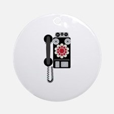 Vintage Payphone Telephone Ornament (Round)