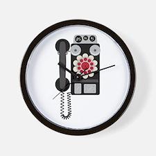 Vintage Payphone Telephone Wall Clock