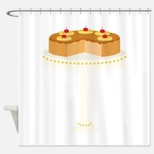 Pineapple Upside Down Cake Shower Curtain