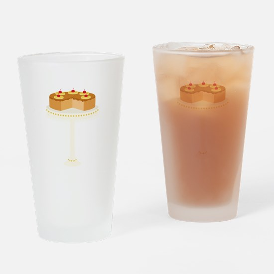 Pineapple Upside Down Cake Drinking Glass