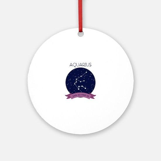 Aquarius Constellation Ornament (Round)