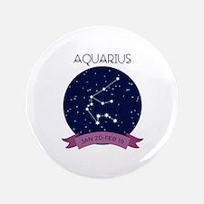 Aquarius Constellation Button