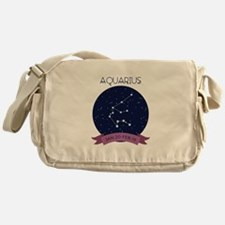 Aquarius Constellation Messenger Bag
