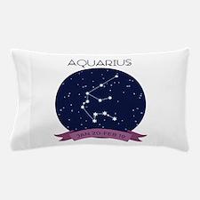 Aquarius Constellation Pillow Case
