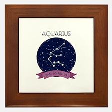 Aquarius Constellation Framed Tile