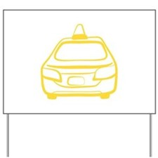 Taxi Outline Yard Sign