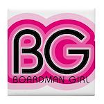 Boardman Girl Tile Coaster