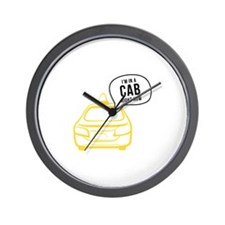 In A Cab Wall Clock
