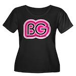 Boardman Girl Women's Plus Size Scoop Neck Dark T-