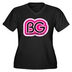 Boardman Girl Women's Plus Size V-Neck Dark T-Shir