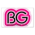Boardman Girl Rectangle Sticker