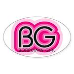 Boardman Girl Oval Sticker