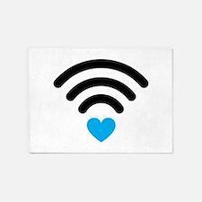 Wifi Heart 5'x7'Area Rug