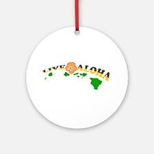Live Aloha Ornament (Round)