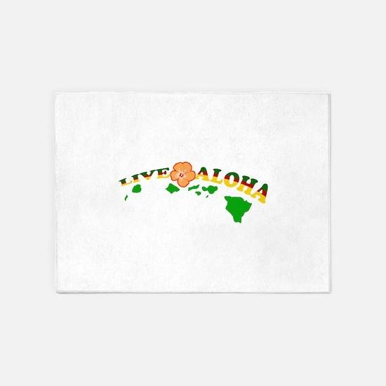 Live Aloha 5'x7'Area Rug