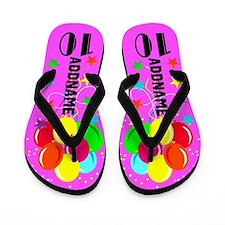 Adorable 10th Flip Flops