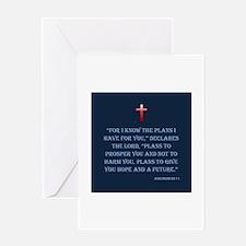 KF Jeremiah 29:11 Dk Blue Greeting Card