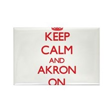Keep Calm and Akron ON Magnets