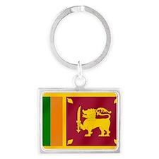 Flag of Sri Lanka Landscape Keychain
