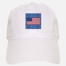 Bones and Heart Prints American Flag Baseball Baseball Cap
