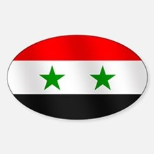 Flag of Syria Sticker (Oval 50 pk)
