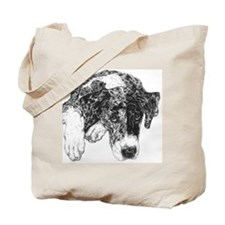 Merle Great Dane in dots Tote Bag