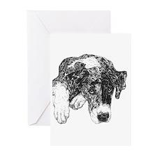 Merle Great Dane in dots Cards (10 Pk)