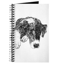 Merle Great Dane in dots Notepad