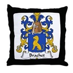 Brachet Family Crest Throw Pillow