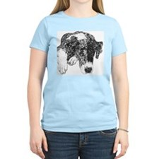 Merle Great Dane in dots Women's Pink T-Shirt