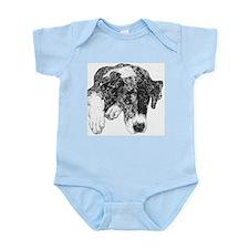Merle Great Dane in dots Infant Creeper