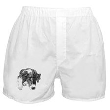 Merle Great Dane in dots Boxer Shorts