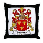 Bouvard Family Crest Throw Pillow