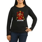 Bouvard Family Crest Women's Long Sleeve Dark T-Sh