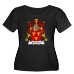 Bouvard Family Crest Women's Plus Size Scoop Neck