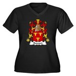 Bouvard Family Crest Women's Plus Size V-Neck Dark