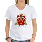 Bouvard Family Crest Women's V-Neck T-Shirt